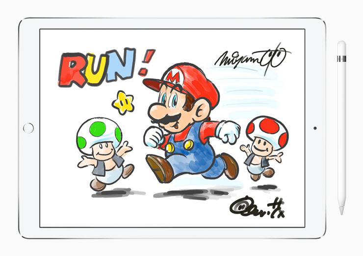 Super Mario run game drawing image