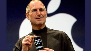 Steve Jobs with first iPhone