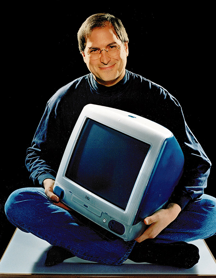 Steve Jobs with iMac G3