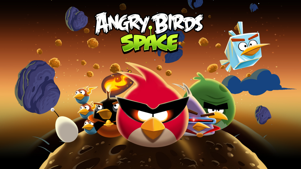 Angry Birds Space HD iOS app screenshot image
