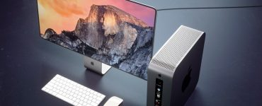 Концепт-рендер Mac Pro 2018 и нового Apple Cinema Display от curved.de
