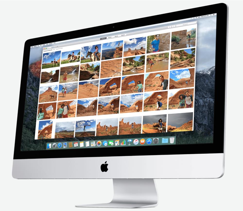 """Приложение """"Фото"""" от Apple, запущенное на iMac"""