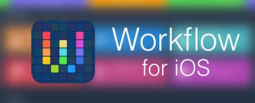 Фото приложения Workflow для iOS