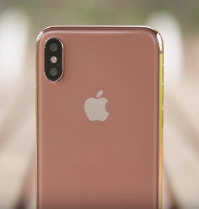 iPhone X gold, фото