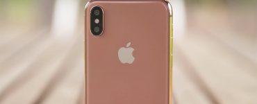iPhone X gold, фото