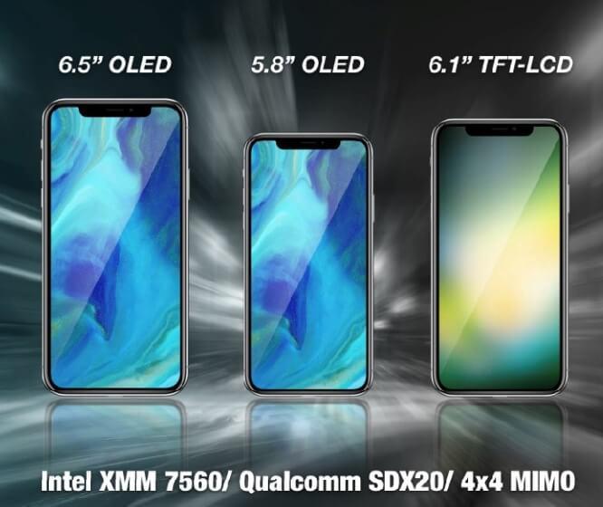 новые модели iPhone 2018, фото