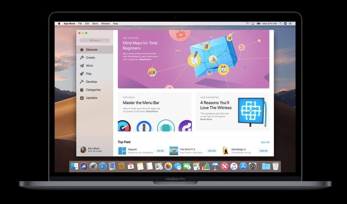 macos mojave mac app store