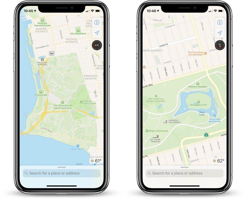 """iOS 12, обновлённые """"Карты"""""""
