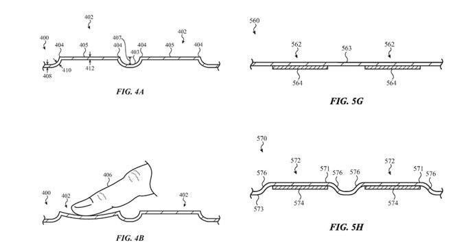 Apple патент стеклянная сенсорная клавиатура для MacBook