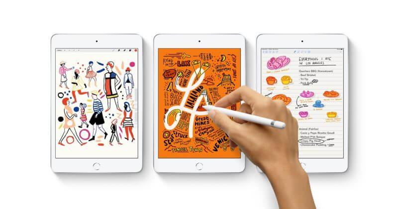 новый iPad mini 5 с поддержкой Apple Pencil
