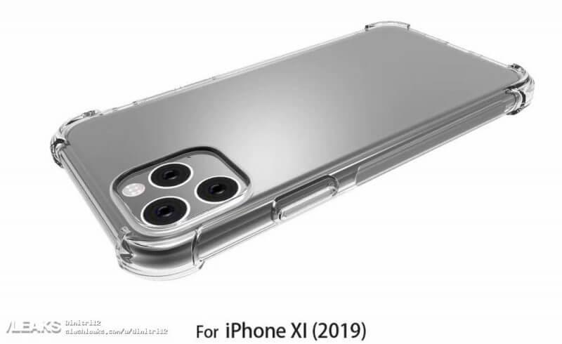 рендеры чехла iPhone 2019
