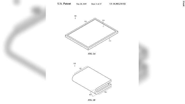 Apple получила патент на складной дисплей