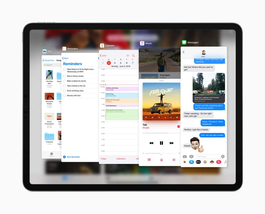 Apple, iPadOS, новые функции, Slide Over