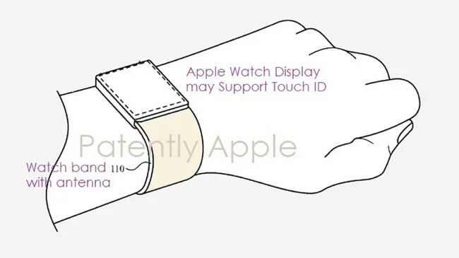 Apple Watch, патент, Touch ID