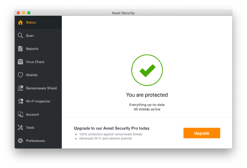 антивирусы для Mac, Avast Free Mac Security