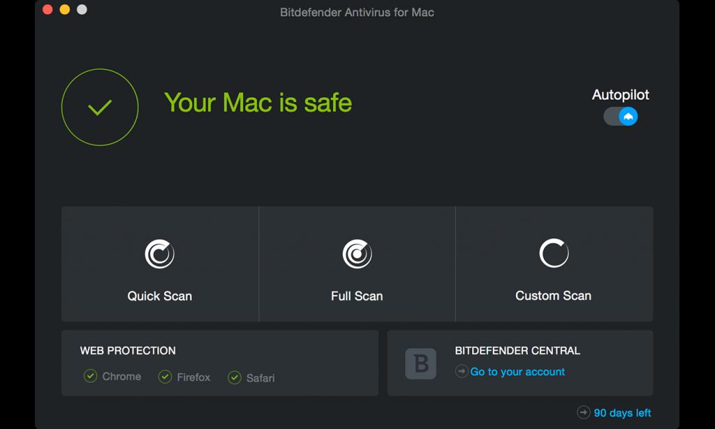 антивирусы для Mac, Bitdefender Antivirus