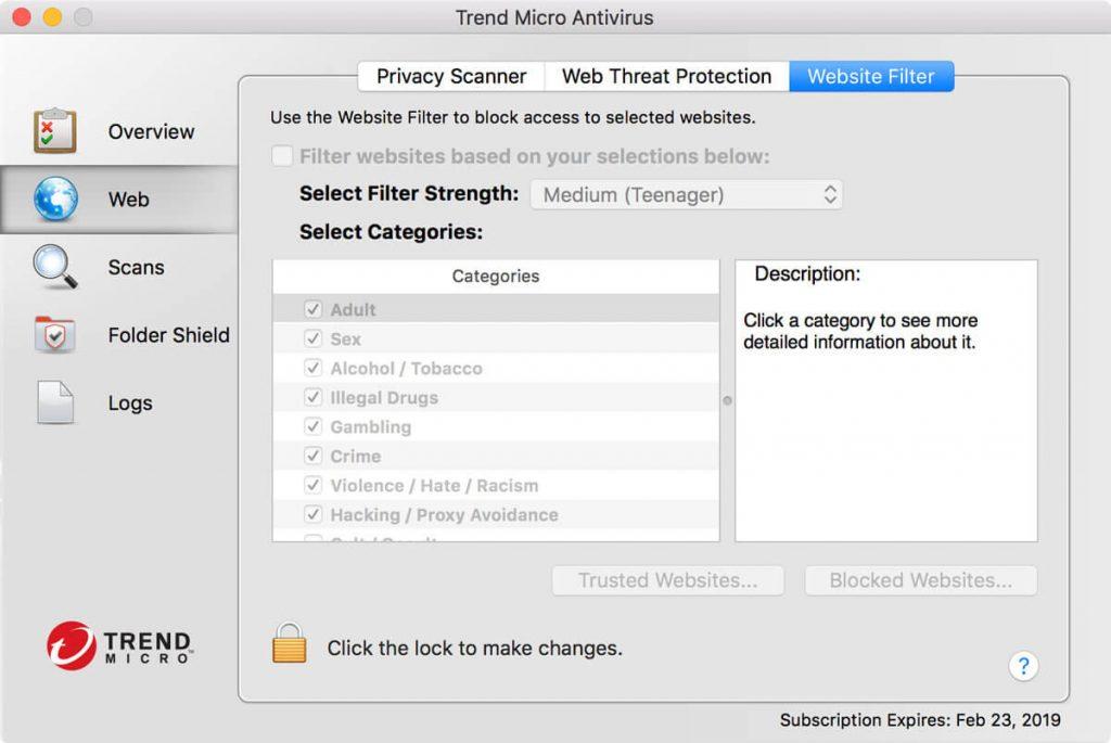 антивирусы для Mac, Trend Micro Antivirus