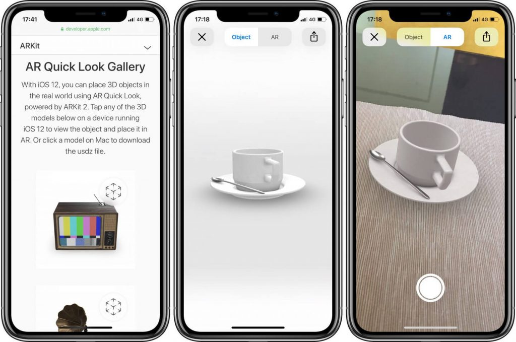 Apple, AR, Quick Look