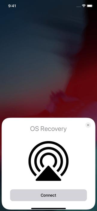 Восстановления по воздуху, iOS