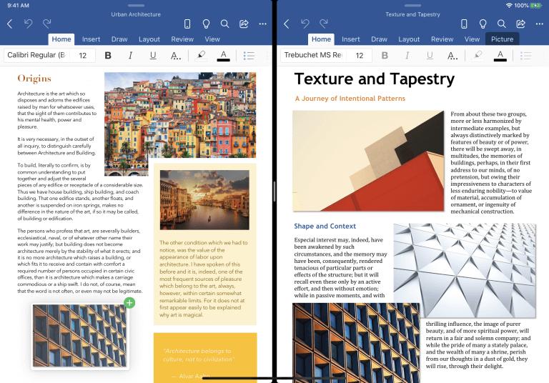 Microsoft Word, PowerPoint, iPadOS 13