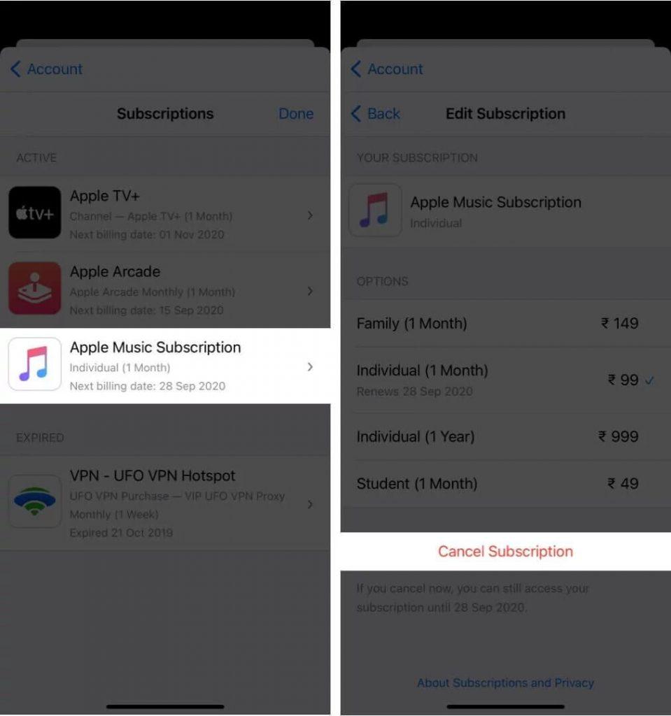 Apple Music, iPhone
