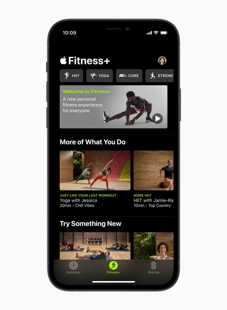 Приложение Apple Fitness+